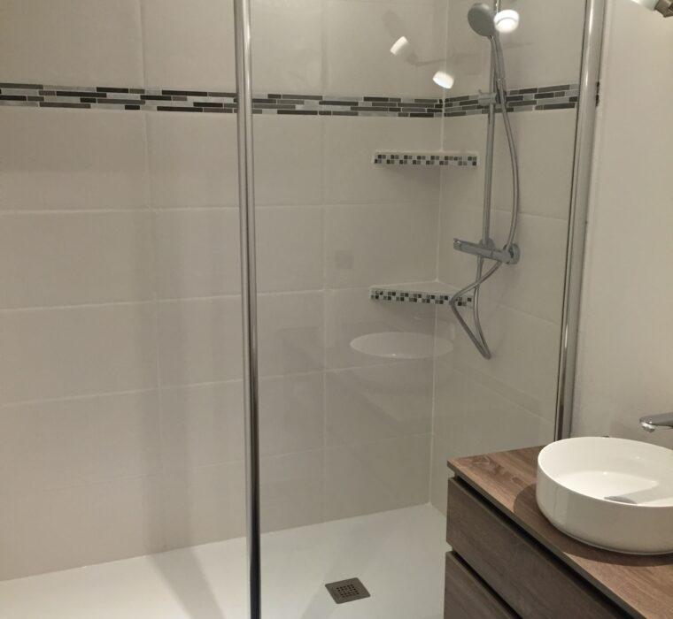 Renovation sdb avec création douche à l'italienne 3